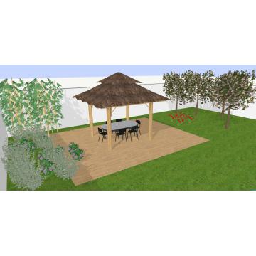 Abris en bambou - Le ying - pergola bambou