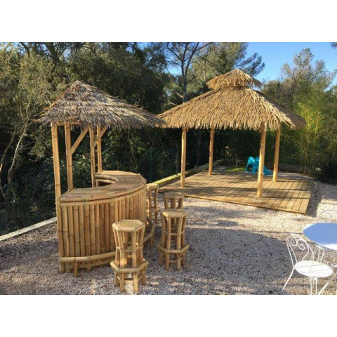 Paillote bambou - abris en bambou - palmex - gazebo bambou