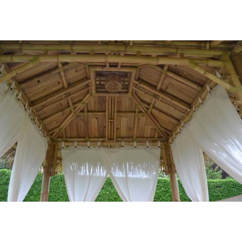 Abris spa bambou - paillote bambou - abris de jardin - gazebo bambou