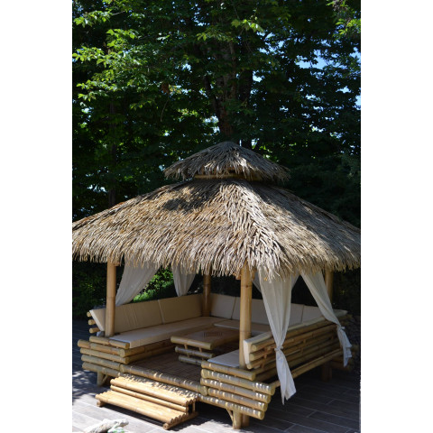 Gazebo bambou - gazebo - paillote bambou - paillote en bambou - palmex - pergola bambou - gazebo