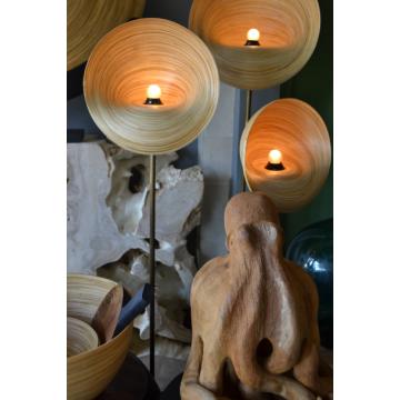 luminaire - lampadaire - lampe à poser design - lampe de salon - luminaire bambou