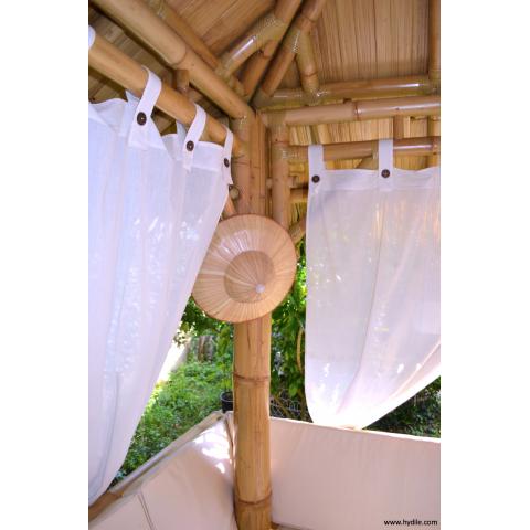 Rideau pour gazebo - Rideaux pour gazebo en bambou - Accessoire pour le jardin