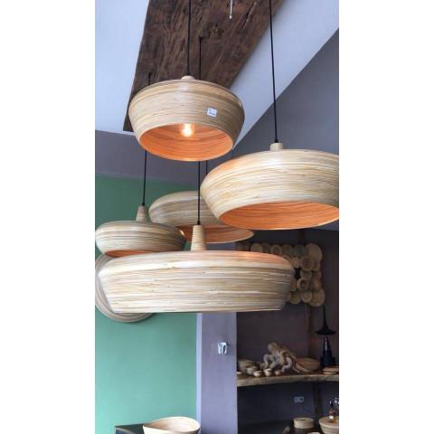 Suspension en bambou - Luminaire bambou - ANOUCK - Luminaire design en bambou - Lustre en bambou - Lampe à suspendre bambou