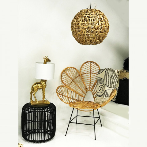 lampe - cocooning - suspension ronde - bambou - luminaire