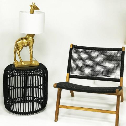 rotin noir - chic - moderne - décoration - création artisanale