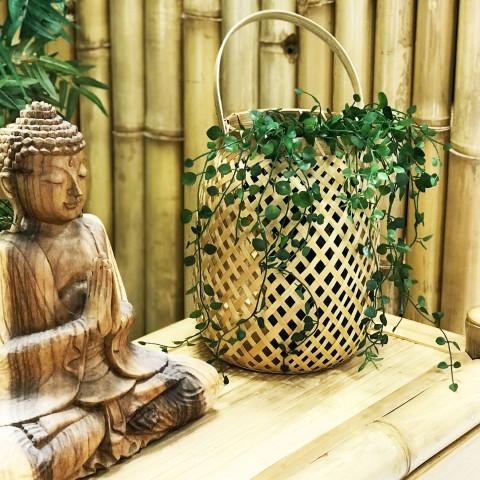 lanterne à suspendre  - bambou - objet décoratif naturel - déco