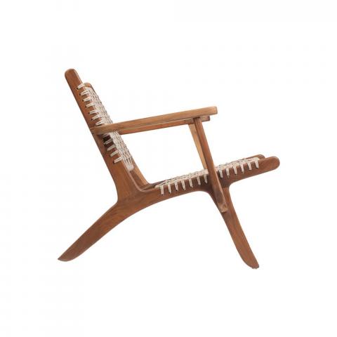 fauteuil avec accoudoirs - fauteuil blanc - assise ecodesign - assise confortable - création artisanale