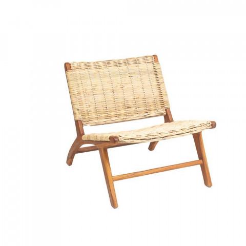 fauteuil rotin - fauteuil teck - fauteuil confortable - assise vintage - fauteuil salon - relax