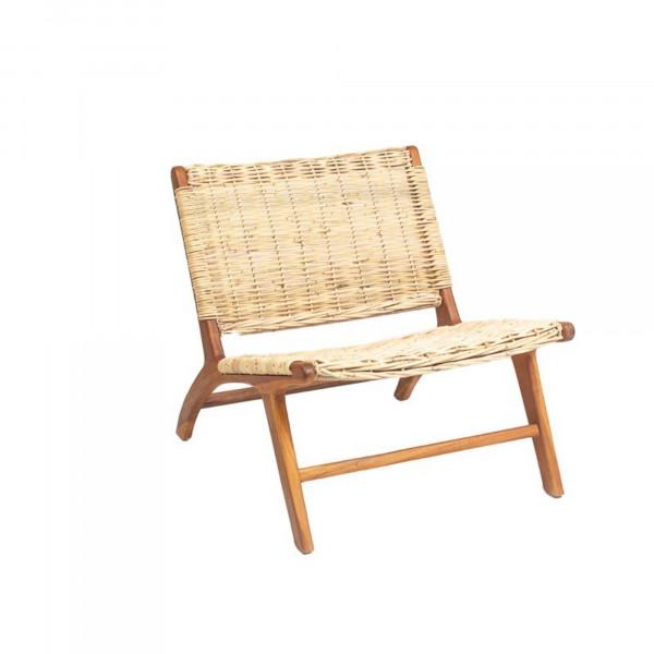 fauteuil de salon en rotin tressé