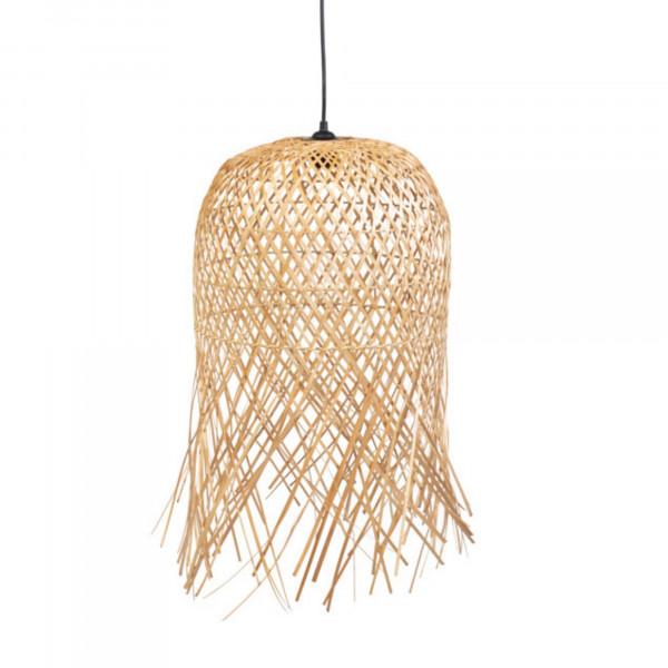 Suspension en bambou - Suspension exotique en bambou - Suspension paille - Suspension bohème bambou