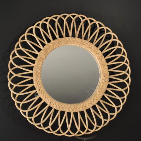 Daisy le miroir en rotin en forme de fleur D.60 cm - Hydile