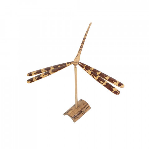 déco naturelle - déco bambou - objet déco - objet design - libellule décorative - objet naturel à poser -