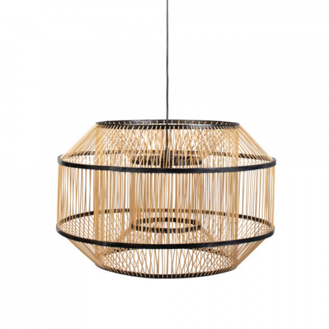 suspension sophistiqué - suspension rotin - suspension - luminaire chic naturel - luminaire en rotin - suspension bohème -