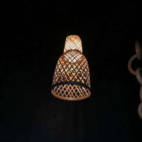 Petite suspension en bambou tressé HYDILE
