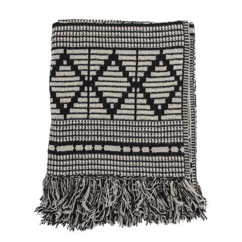 Plaid noir et blanc - plaid couverture