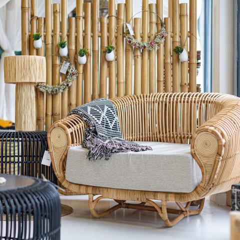 Fauteuil en rotin - fauteuil de salon - fauteuil pour salle à manger - fauteuil rotin hydile