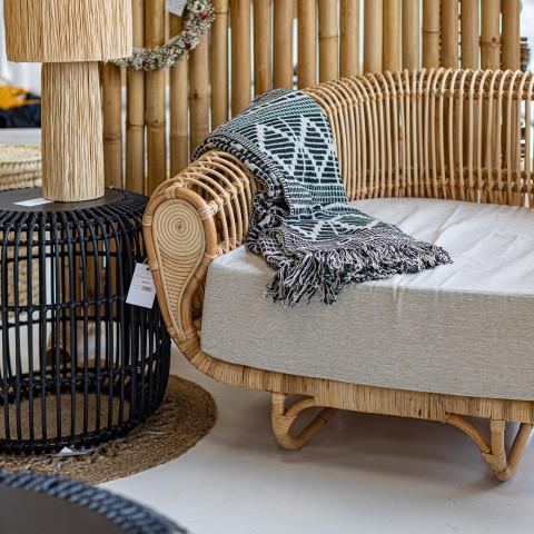 Fauteuil extérieur rotin - fauteuil design en rotin - pièce unique