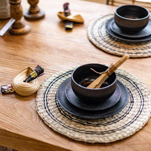 Art de la table en bambou avec couvert bambou