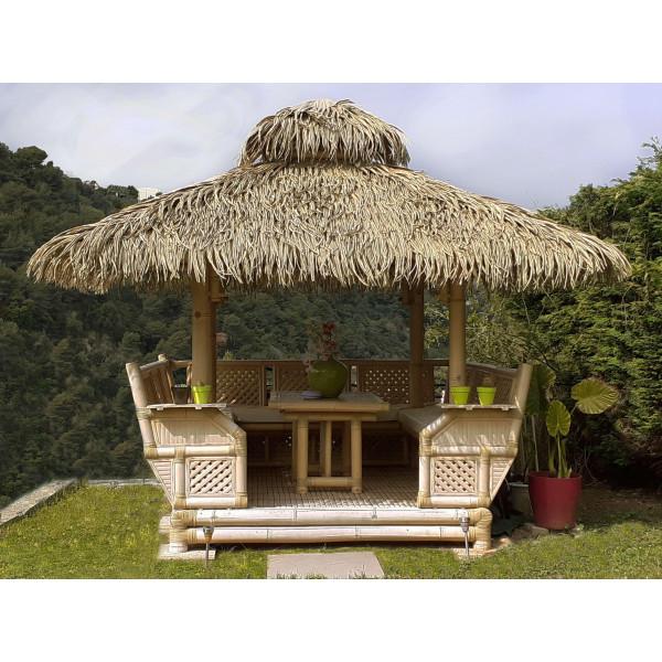Gazebo en bambou - paillote bambou