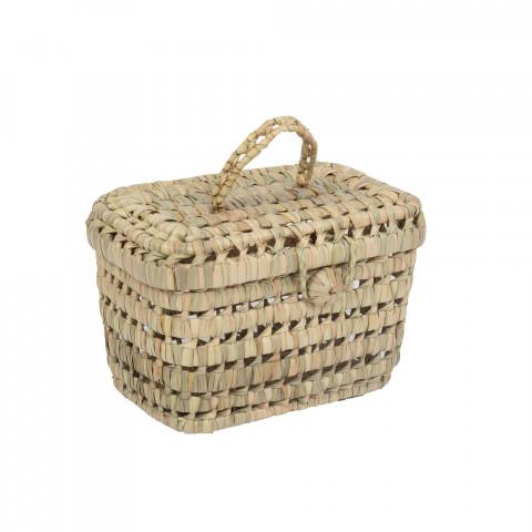 Petite valisette en fibres naturelles ou vanity déco au style marocain.