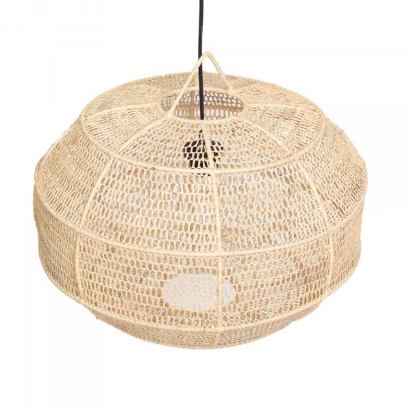 Suspension ovale en fibre naturelle tressée