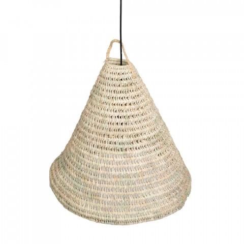 Luminaire bohème plage en fibre naturelle
