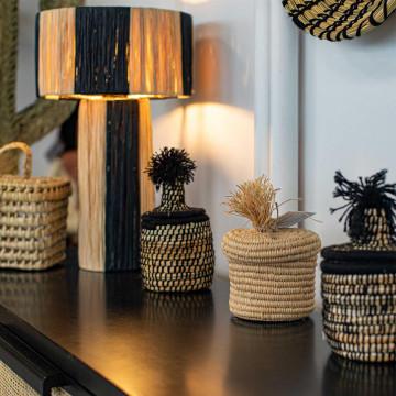Lampe à poser naturelle - lampe de chevet - lampe artisanale - lampe originale