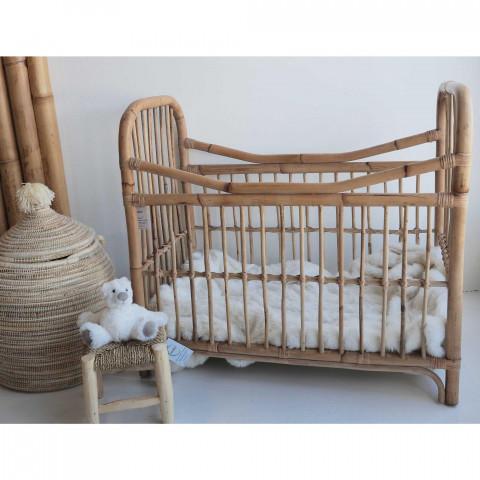 berceau en rotin - lit bébé naturel - lit bambin rotin - lit vintage - lit bohème