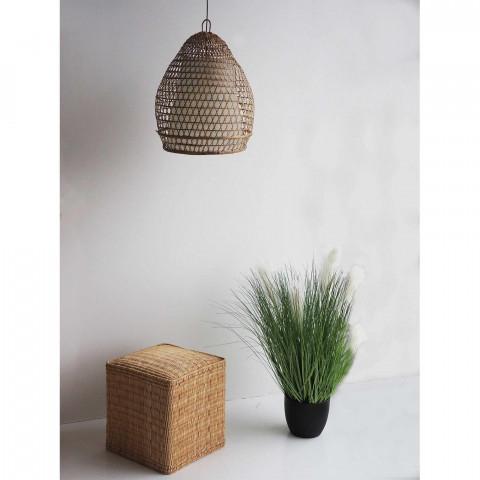 luminaire en bambou tressé