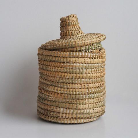Panier berbère en laine et osier