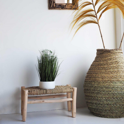 banc décoratif naturel