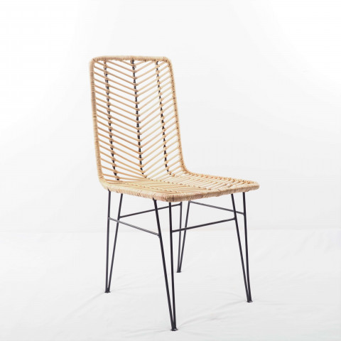 ATO - Chaise en rotin et métal design - HYDILE, la marque de déco naturelle