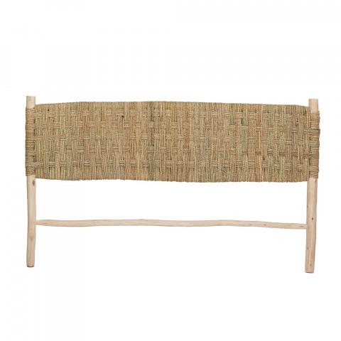 tête de lit naturelle en bois
