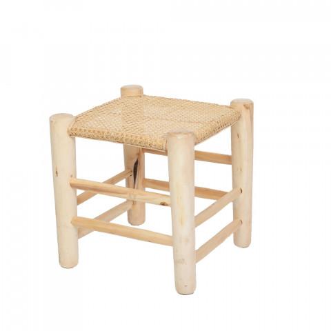 assise naturelle - assise cannage - table de chevet - tabouret pour plante