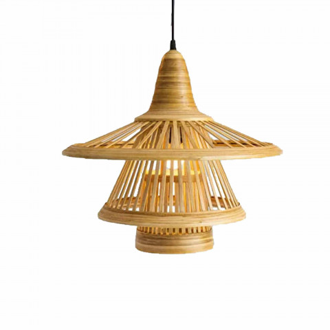 Suspension en bambou naturel design