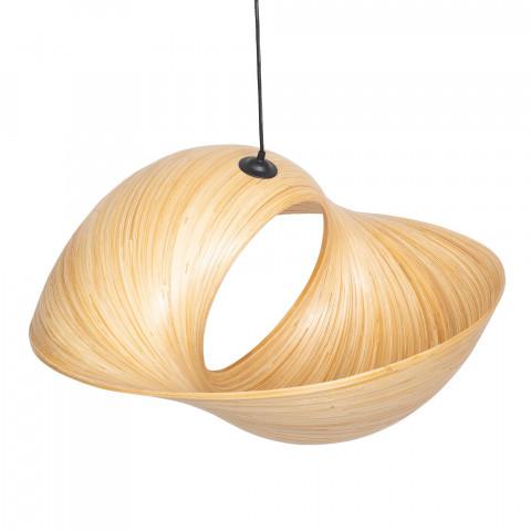Suspension en bambou forme coquillage