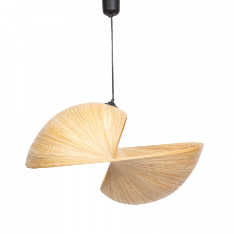 Abat jour en bambou coquillage forme design