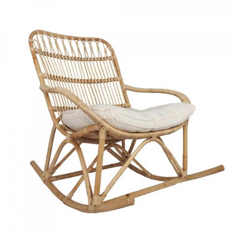 Rocking chair naturel en rotin