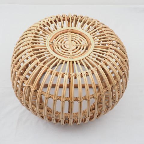 Table basse rotin - table basse ronde rotin - assise rotin - hydile