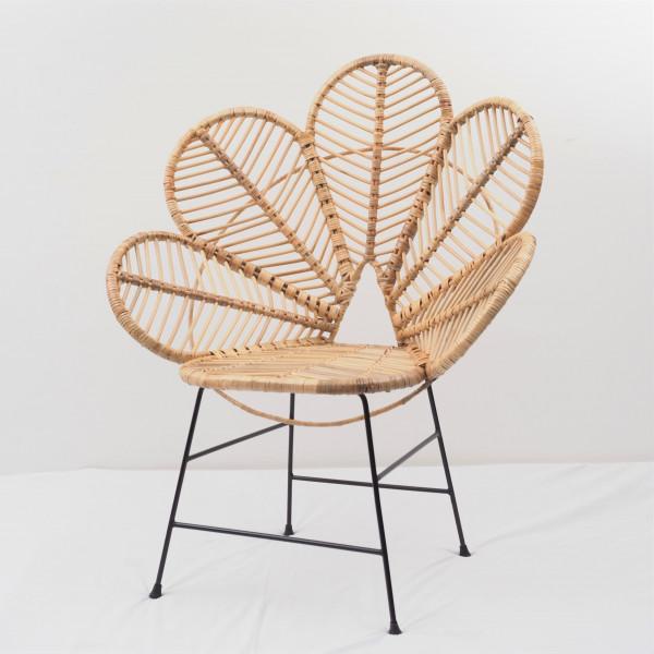 Maison Du Monde Fauteuil Rotin la chaise fleur coquelicot en rotin et métal -fauteuil fleur