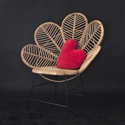 Chaise fleur - Fauteuil fleur -  Chaise fleur en rotin - Hydile