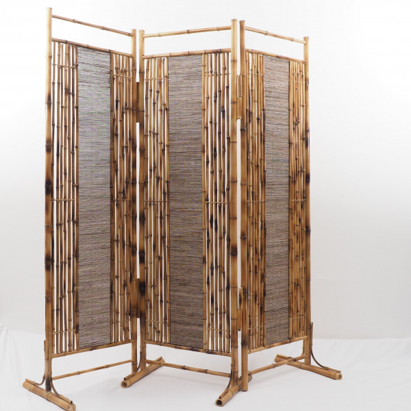 paravent en bambou naturel maxi format et design s parer. Black Bedroom Furniture Sets. Home Design Ideas
