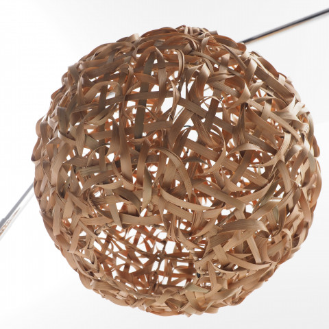 Bola suspension ronde en bambou tressé - suspension luminaire - abat-jour bambou - lampe bambou -hydile