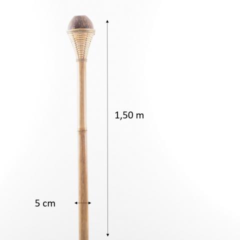 Torche/tige à huile en bambou    1.50m + noix de coco pour décorer le jardin - 12 Euros- HYDILE pour le jardin