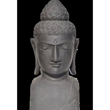 Bouddha en pierre - grande statue jardin