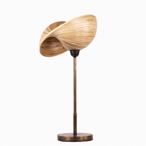 Lampe de bureau - luminaire à poser - lampadaire - lampe sur pieds - lampe bambou - style industriel - minimaliste - bambou