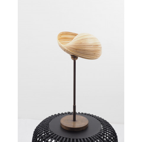 Lampe à poser et luminaire en bambou - petit lampadaire - lampe salon - lampe bureau