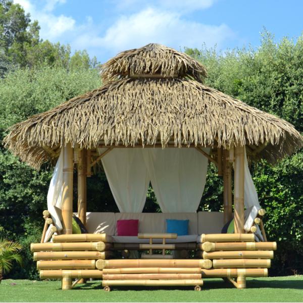 Gazebo bambou ou paillote bambou, salon de jardin, pergola ...