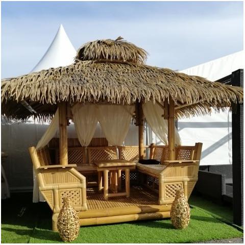 Gazebo bambou - Paillote bambou - Paillote - kiosque de jardin - gazebo en bambou - pergola bambou - gazebo bali - Hydile