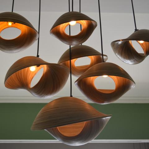 Lustre géant - lustre bambou - lampe à suspendre bambou - objet deco bambou - pièce unique - Hydile